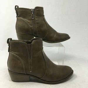 G by Guess Womens 7M Towny Side Zip Heeled Ankle B
